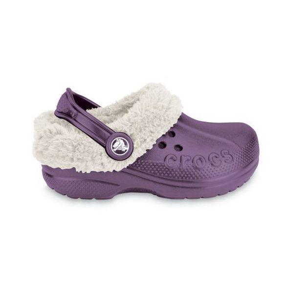 Crocs Blitzen bélelt kislány papucs* - GYAPJÚ BÉLÉSSEL!