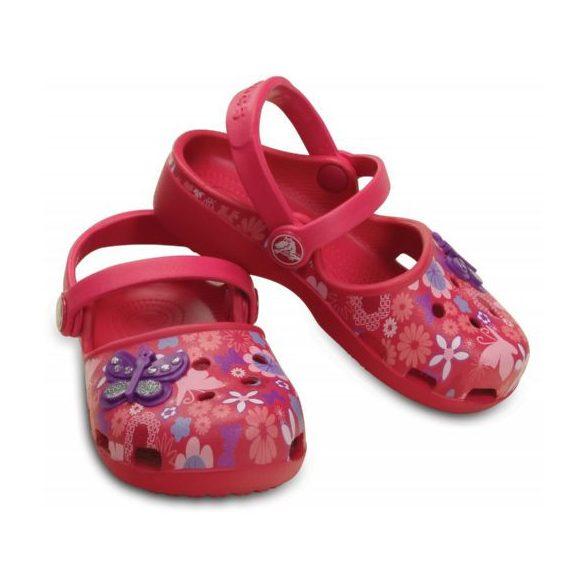 Crocs Karin Butterfly Clog Kids kislány papucs* - MINTÁS GRAFIKA!