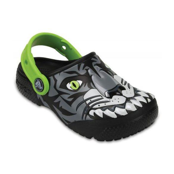 Crocs Crocs Fun Lab Clog Tiger kisfiú papucs* - FOSZFORESZKÁL, 3D GRAFIKA!