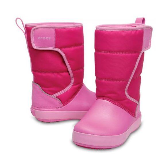 Crocs Lodge Point Snow Boot Kids kislány csizma* -  HÓTAPOSÓ!