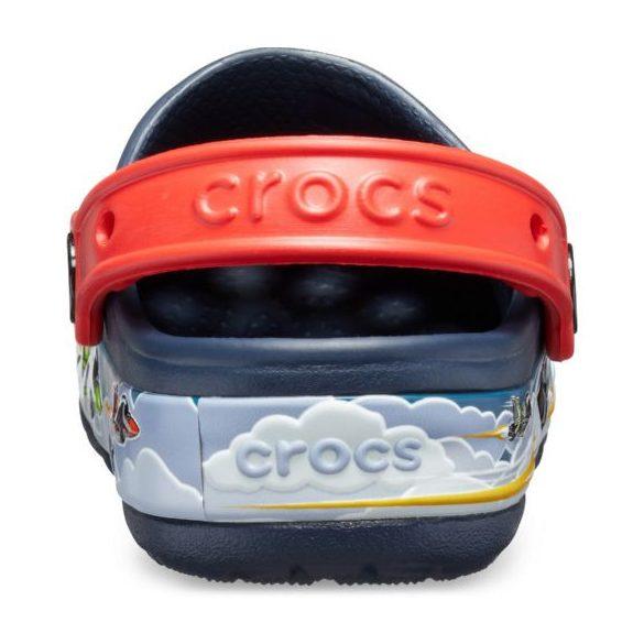 Crocs Crocs FL Jets Band Lights Clog Kids kisfiú papucs* - VILÁGÍTÓ TALP, 3D GRAFIKA!