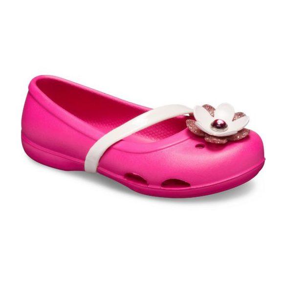 Crocs Lina Charm Flat Kids kislány balerina cipő* - CUKI!