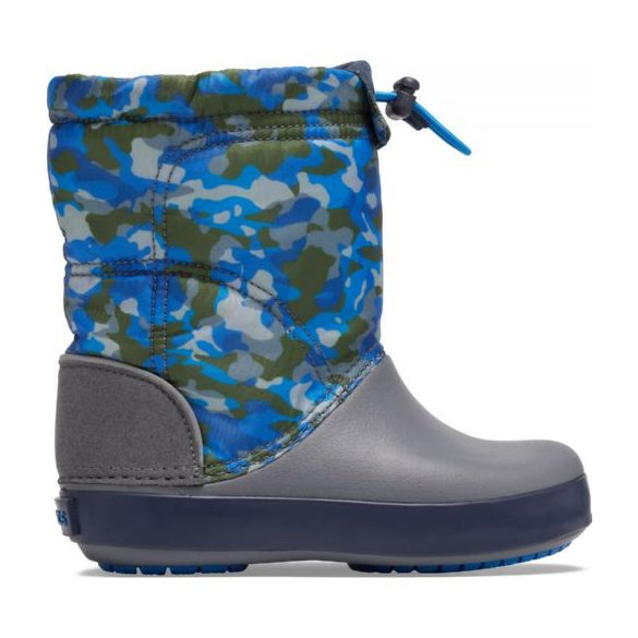 Crocs CB Lodge Point Graphic Winter Boot Kids kisfiú csizma* - A VAGÁNY HÓTAPOSÓ!