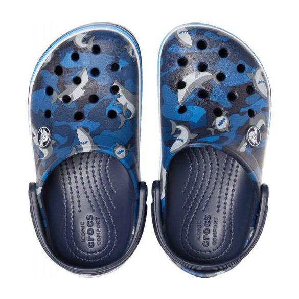 Crocs Crocband Shark Clog Kids kisfiú papucs* MINTÁS!