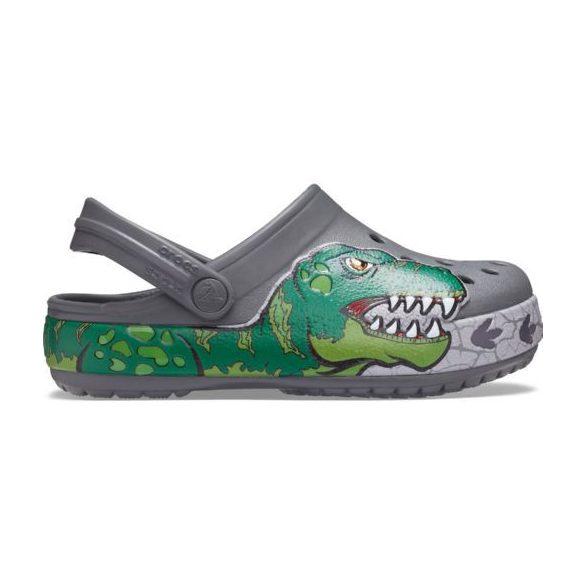 Crocs Funlab Dino Band Lights Clog Kids kisfiú papucs* - VILÁGÍTÓ, 3D GRAFIKA!